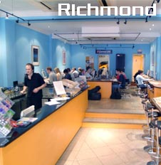 interior of the richmond cafe